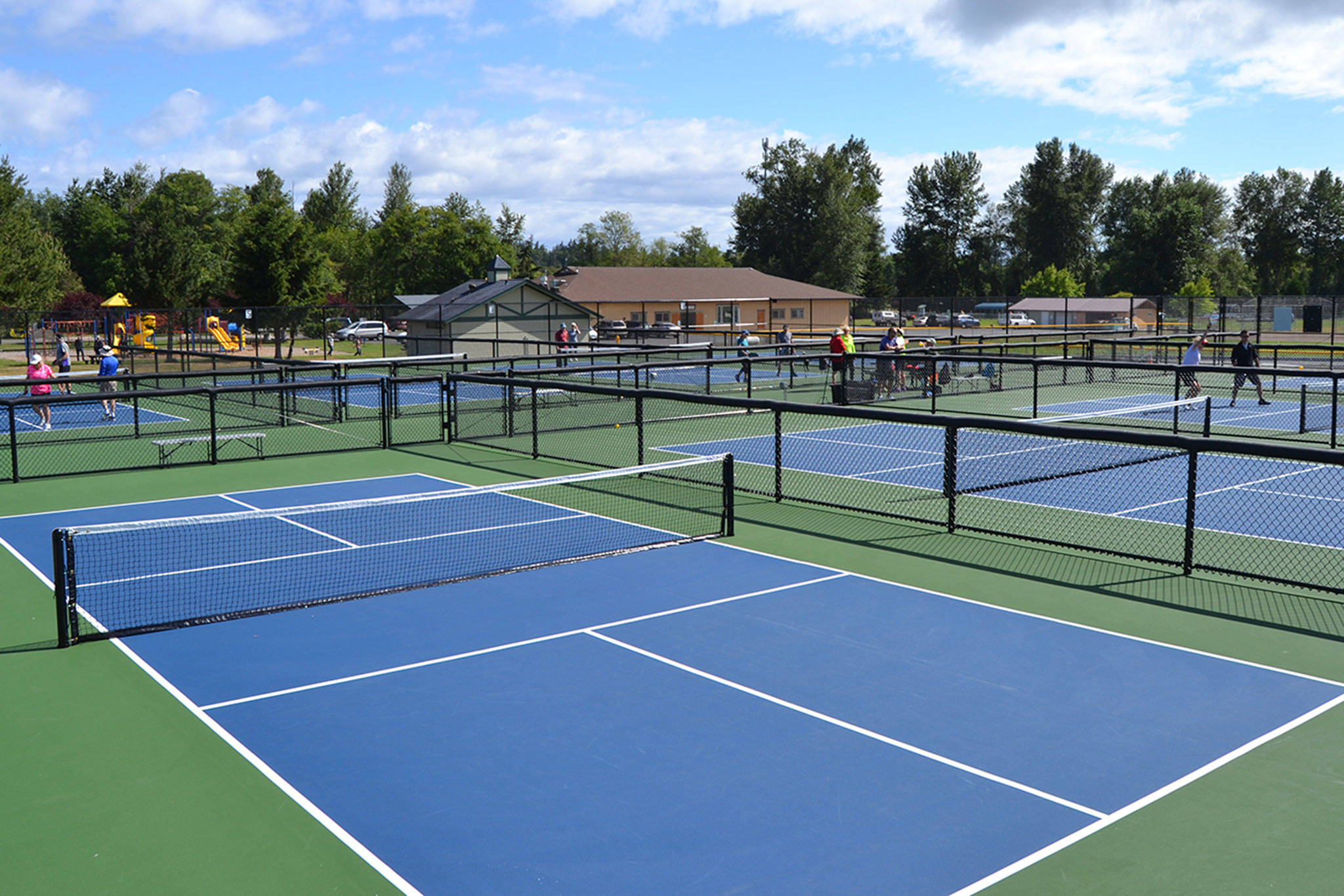 The newest addition to Carrie Blake Community Park, pickleball courts, opened to the public on June 28. Michael Dashiell/Olympic Peninsula News Group