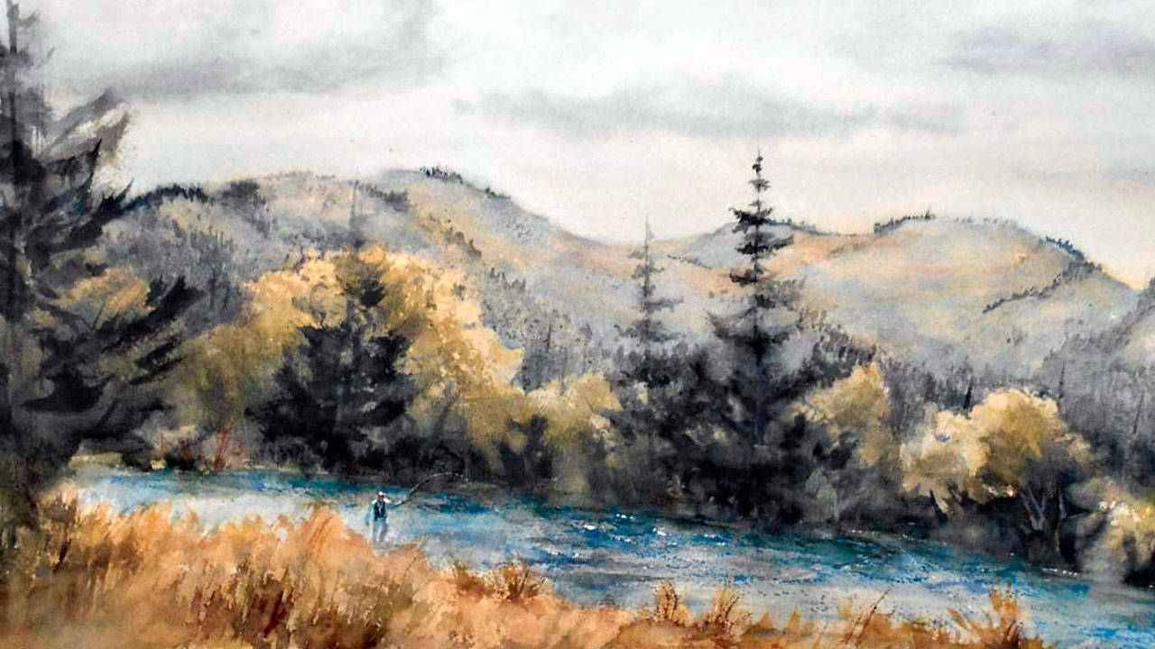 Work by watercolorist David Chastain will be exhibited at The Landing Artists Studio during Saturday's art walk in Port Angeles.